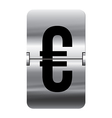 Alphabet silver flipboard letters euro vector image
