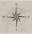 ancient compass vintage paper background vector image