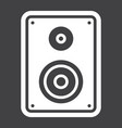 audio monitor solid icon sound and speaker vector image