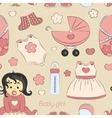 Baby girl design pattern vector image