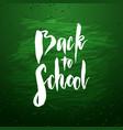 back to school banner design vector image