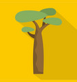 baobab icon flat style vector image vector image