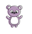beautiful cute animals with expression face vector image vector image