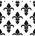 Black and white fleur de lys pattern vector image vector image