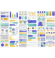 bundle business infographic elements vector image