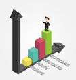 businessman is on graph success isometric vector image vector image
