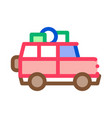 camping car with luggage icon outline vector image