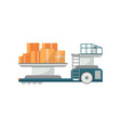 cargo truck for plane loading icon vector image