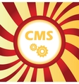CMS settings abstract icon vector image vector image