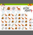 count the animals game vector image vector image