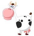 Cute cow posing vector image vector image