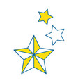 decorative stars isolated icon vector image vector image