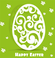 Easter egg openwork appliques postcard vector image vector image