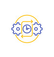 efficiency icon on white line vector image vector image