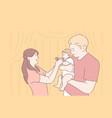 family parenthood childhood together concept vector image