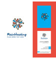 fireworks creative logo and business card vector image vector image