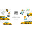 flat taxi colorful template vector image vector image
