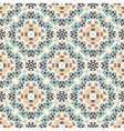 Floral Pattern Blue Brown Flower Weave Curves vector image