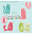funny cats elements vector image