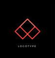 geometric shape letter aline monogram decorative vector image vector image