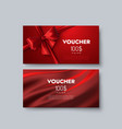 gift voucher templates vector image