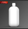 glass white wine bottle vector image vector image