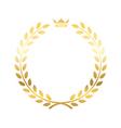 Gold laurel wreath crown vector image vector image