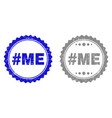 grunge hashtag me scratched watermarks vector image vector image