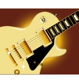 Guitar Close Up vector image vector image