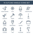 handle icons vector image vector image
