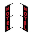 isometric hotel sign vector image vector image