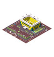 isometric sport arena place for biggest sport vector image