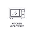 kitchen microwave line icon outline sign linear vector image