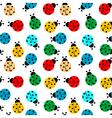 ladybug seamless vector image vector image