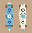 Longboard top and bottom view vector image vector image