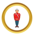 Man in a red jacket icon vector image vector image