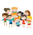 many children with happy face vector image