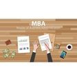 mba master of business administration with vector image vector image