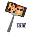 monopod photography selfie style isolated vector image vector image