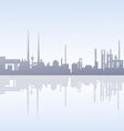 Morning Factory Skyline vector image vector image