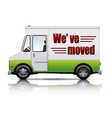 movers van vector image