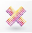 no icon composed of polka dots vector image vector image