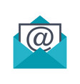 open envelope pictogram vector image vector image