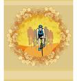 peloton - abstract retro card vector image