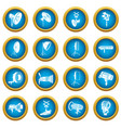 photography icons set simple style vector image vector image