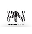 pn p n lines letter design with creative elegant vector image vector image