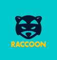 raccoon logo template head of coon vector image vector image
