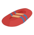 Red inflatable boat icon cartoon style vector image