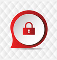 red lock icon geometric background image vector image