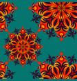 seamless pattern vintage elements vector image